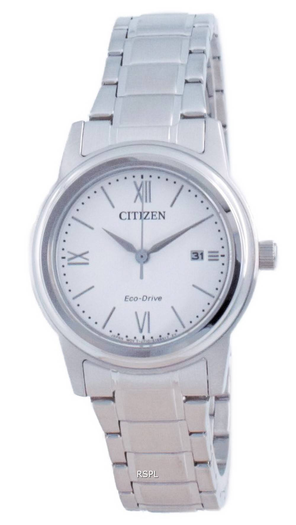 Citizen Classic White Dial Stainless Steel Eco-Drive FE1220-89A 100M Women's Watch
